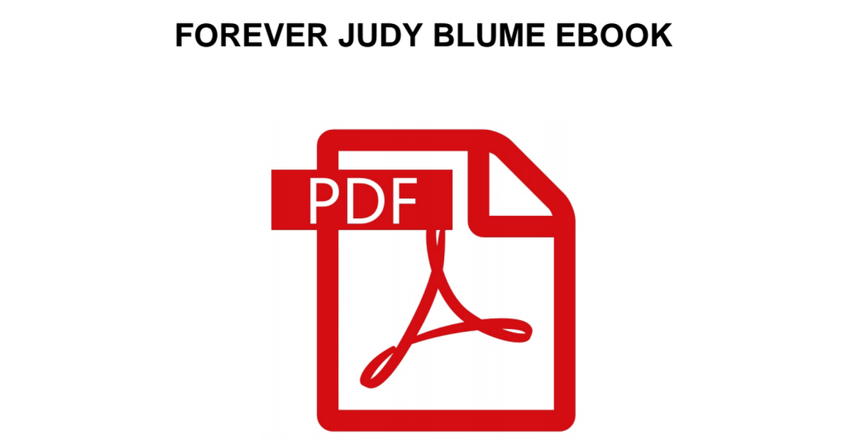 Forever Judy Blume Pdf Google Drive