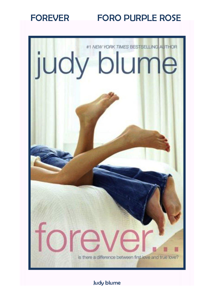 Forever Judy Blume Pdf