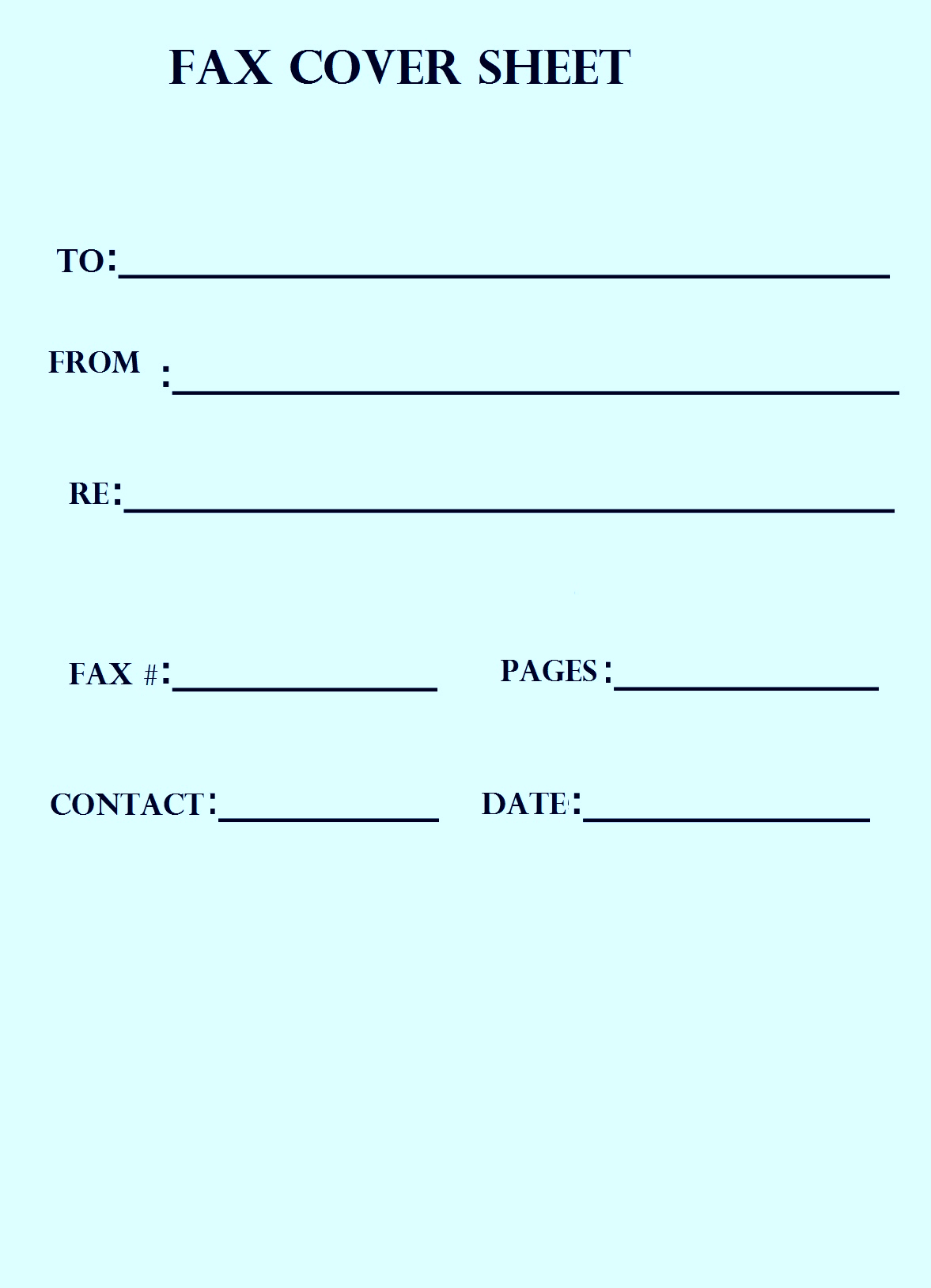 Free Fax Cover Sheet Pdf Fillable