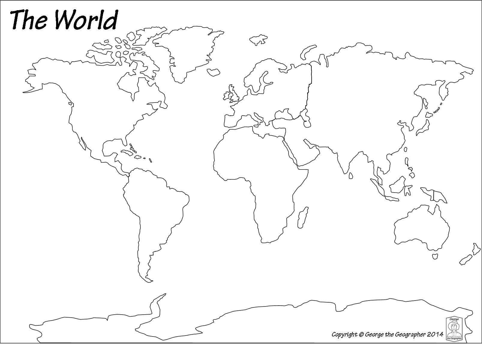 Free World Map Printable Pdf