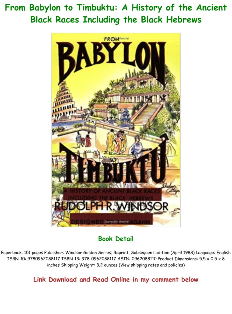 From Babylon To Timbuktu Pdf Download