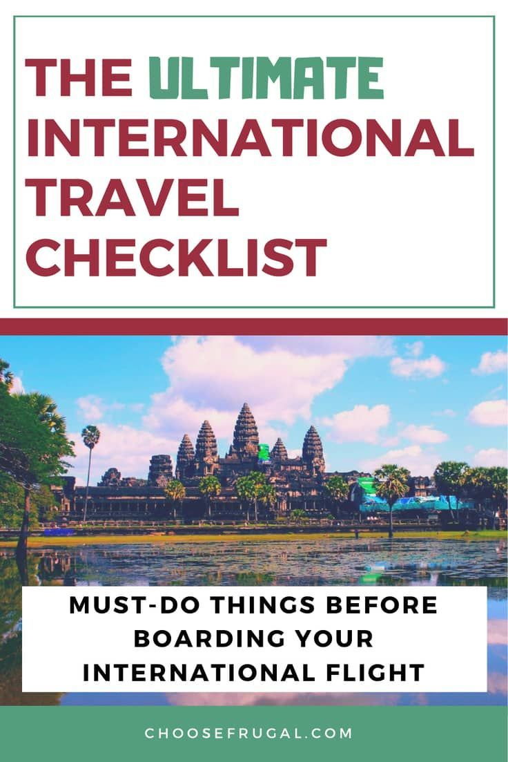 International Travel Travel Checklist Pdf