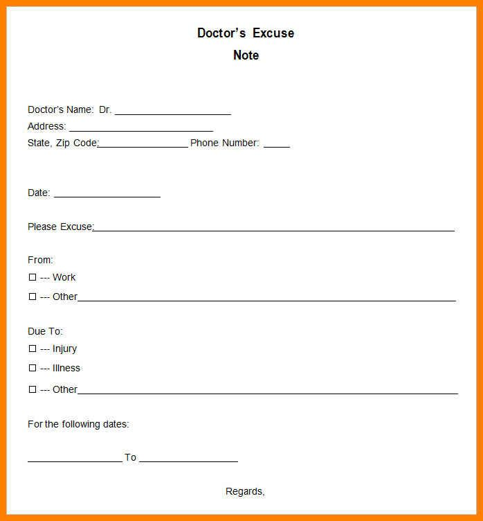 Pdf Blank Doctors Note Template