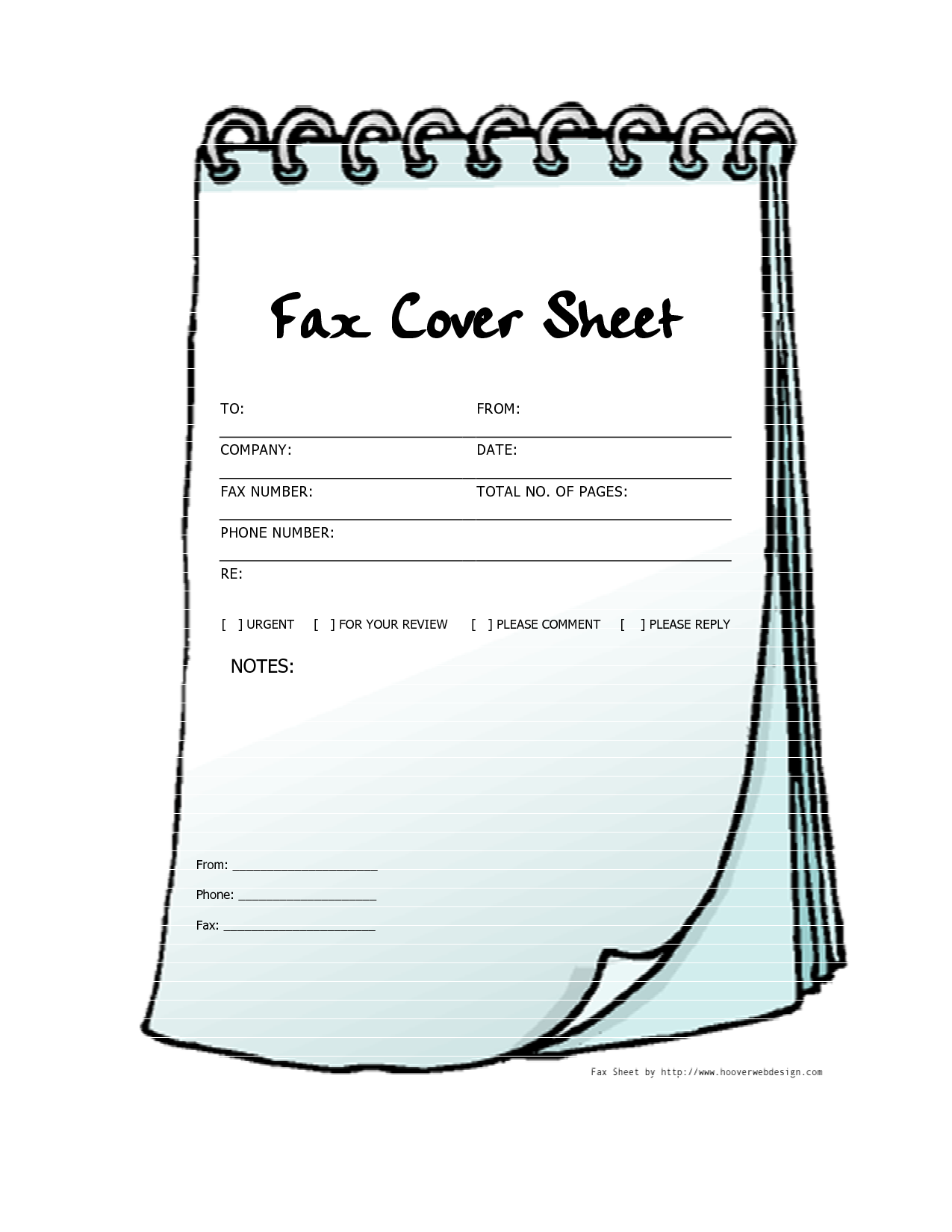 Pdf Free Printable Print Fax Cover Sheet