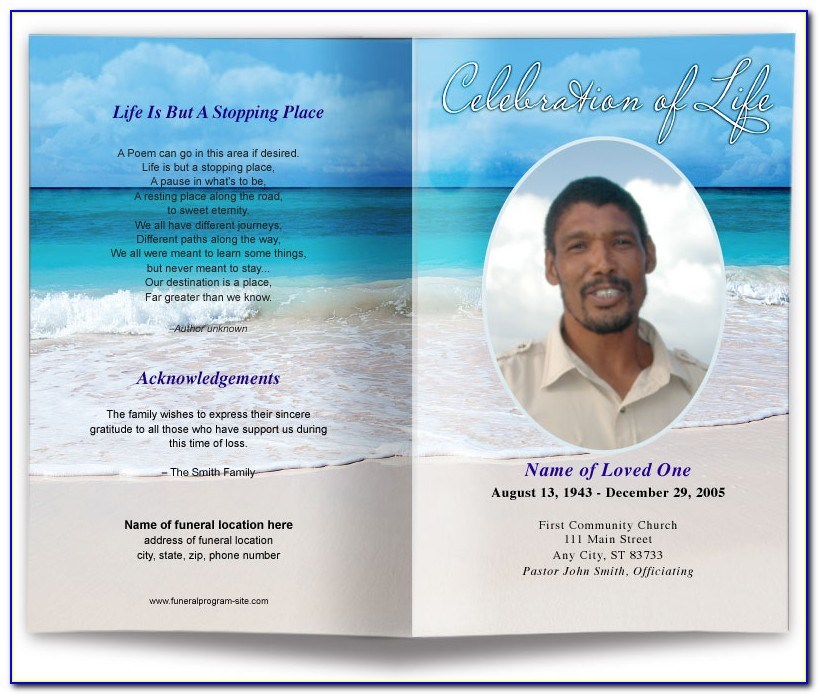 Printable Free Editable Funeral Program Template Pdf