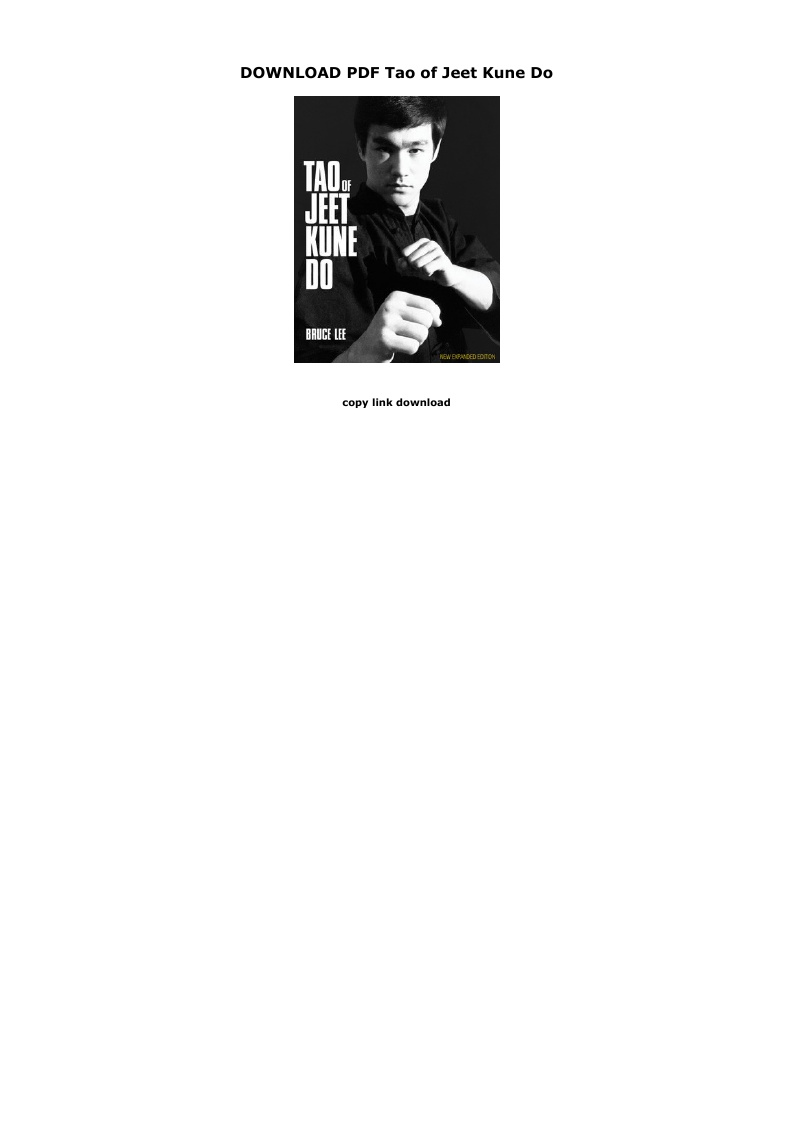 Tao Of Jeet Kune Do Pdf Download