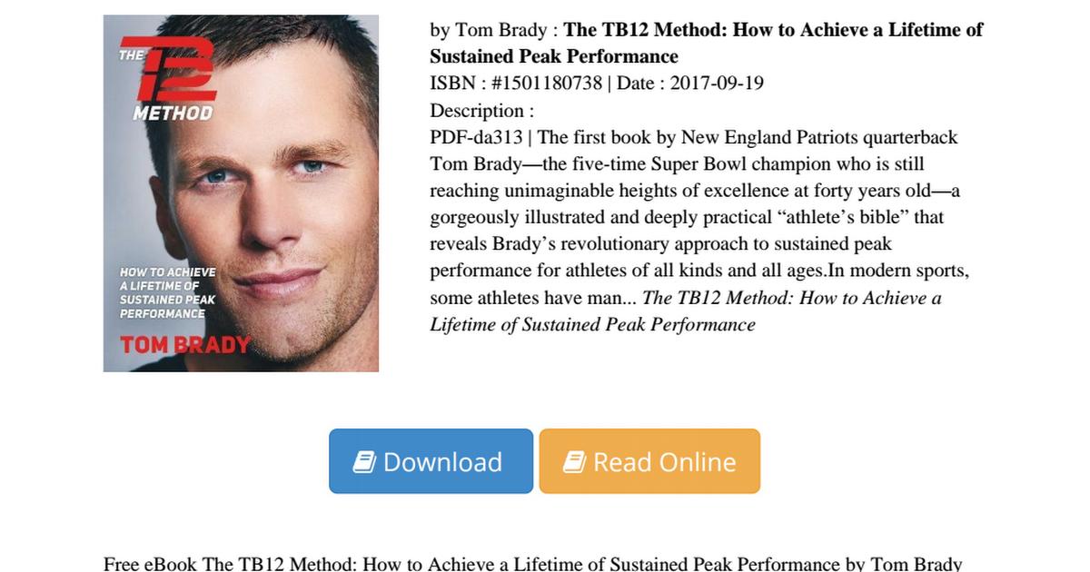Tb12 Method Pdf