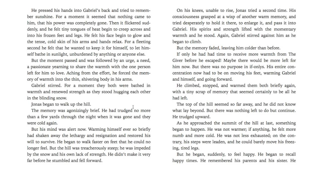 The Giver Book Pdf Chapter 2