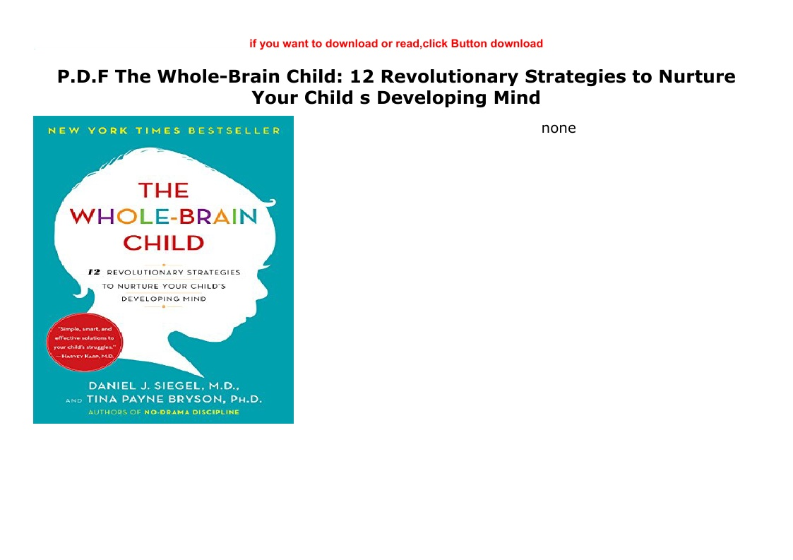 The Whole Brain Child Pdf