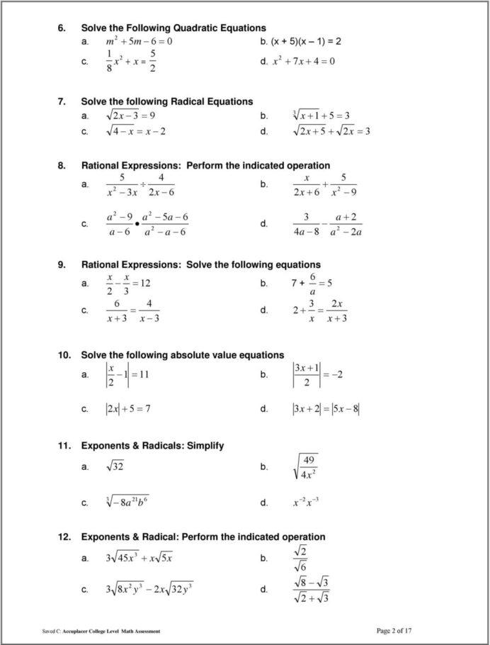 Tsi Math Practice Test Pdf 2020