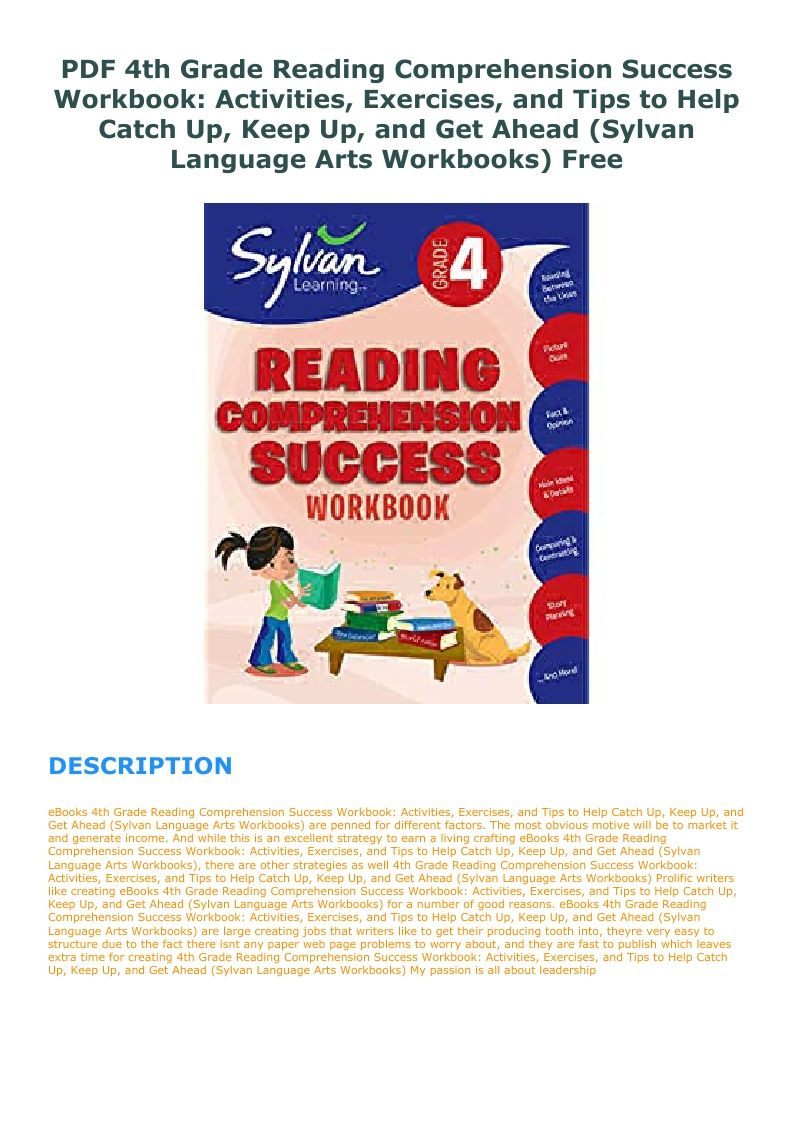 4th Grade Reading Comprehension Workbook Pdf