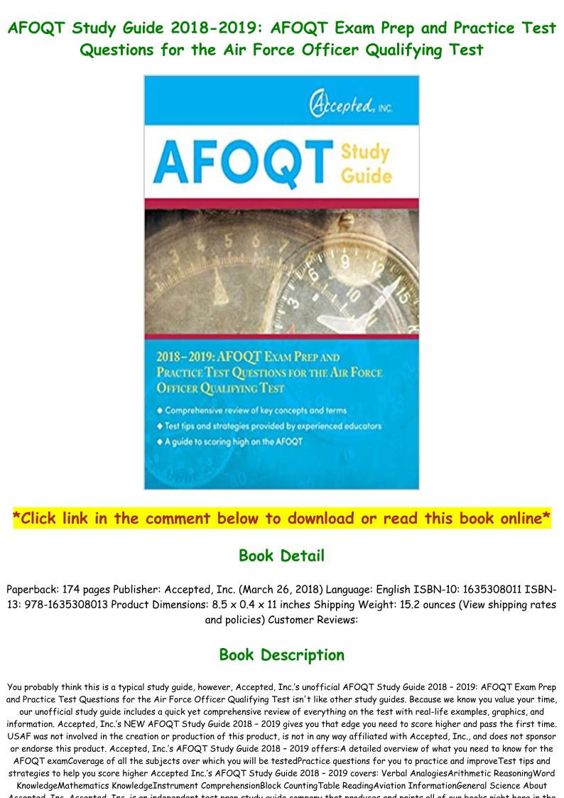 Afoqt Practice Test Pdf