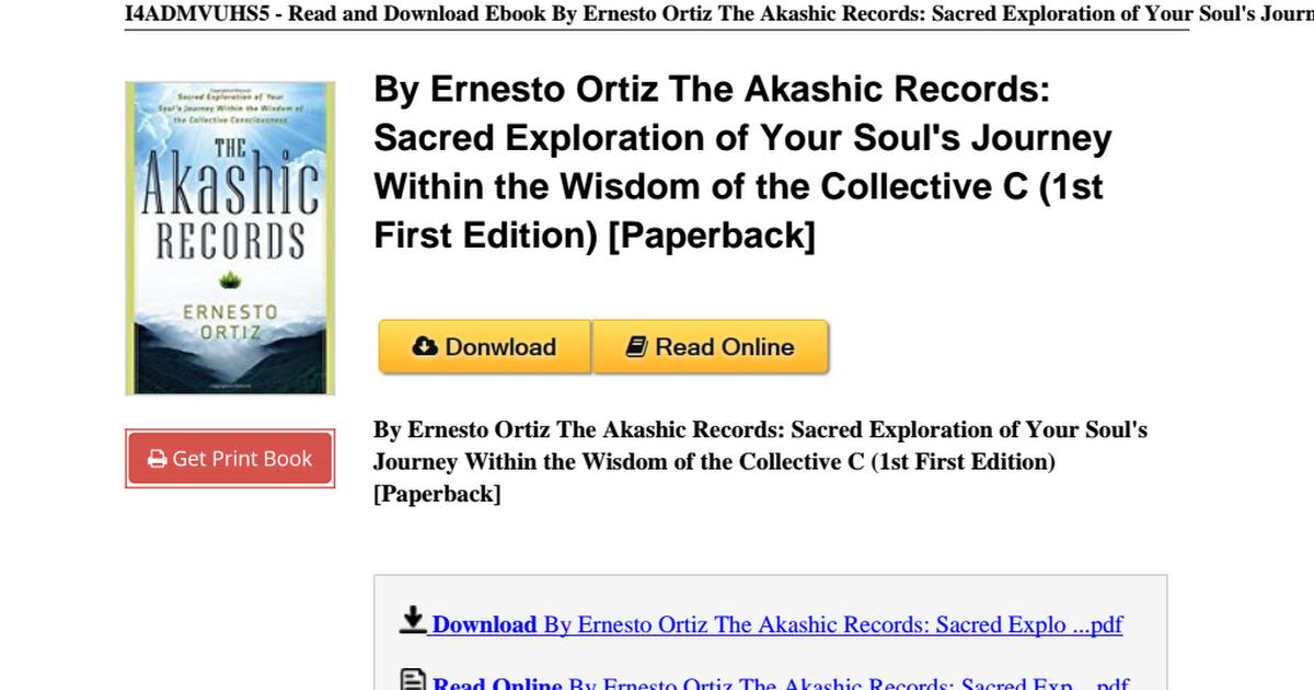 Akashic Records Pdf Drive