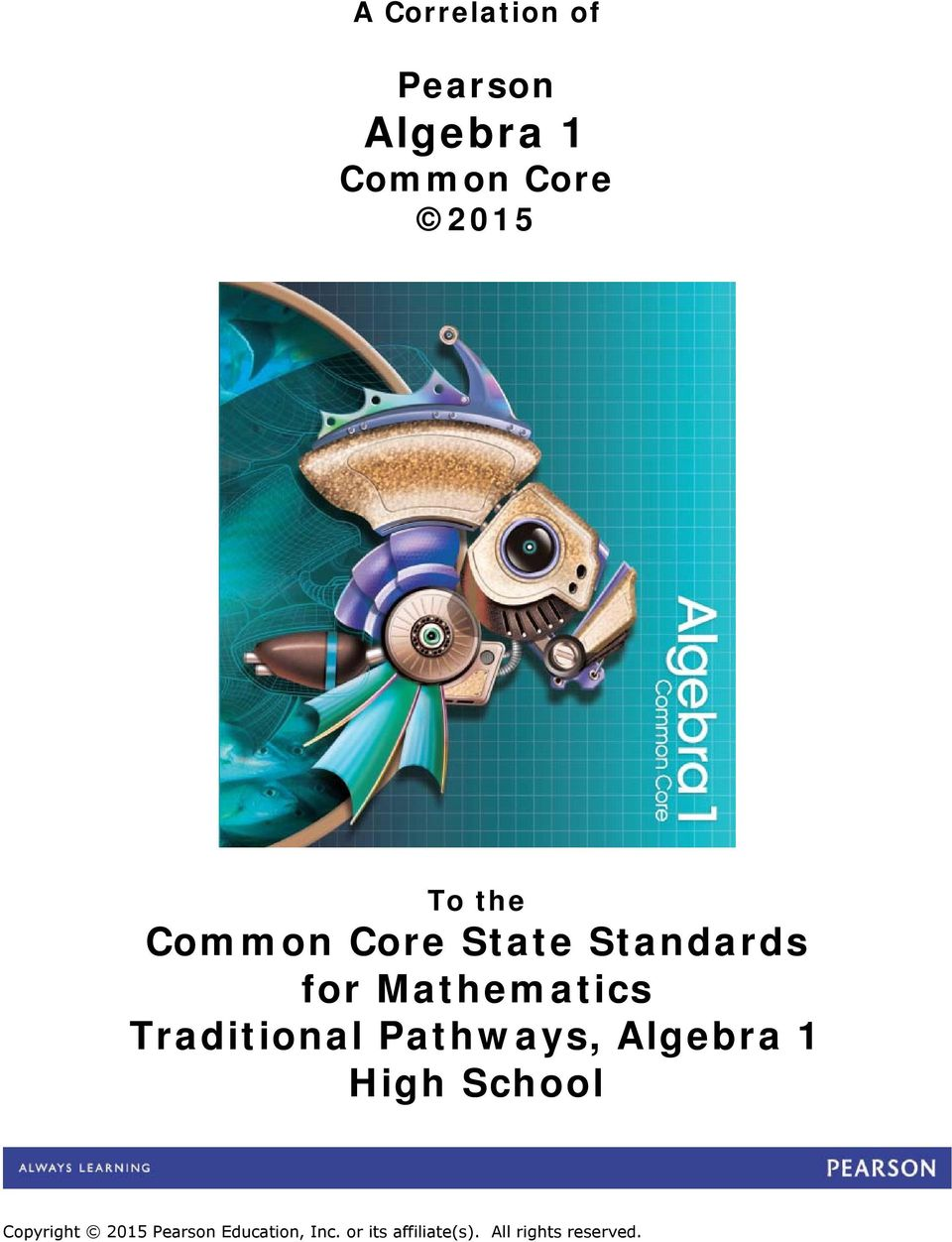 Algebra 1 Common Core Pdf