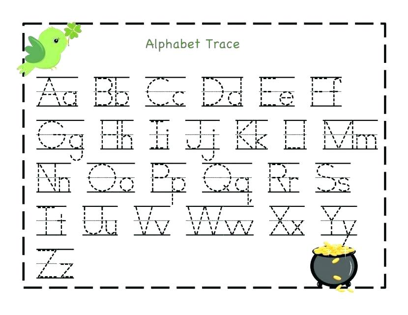 Alphabet Writing Practice Worksheets Pdf