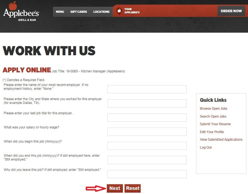 Applebees Jobs Application Pdf