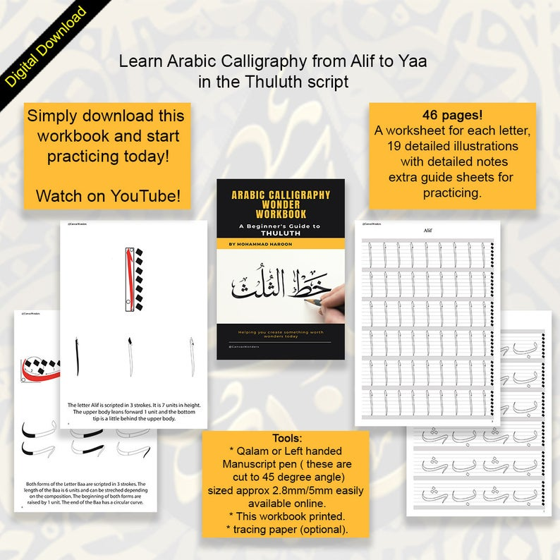 Arabic Calligraphy Workbook Pdf