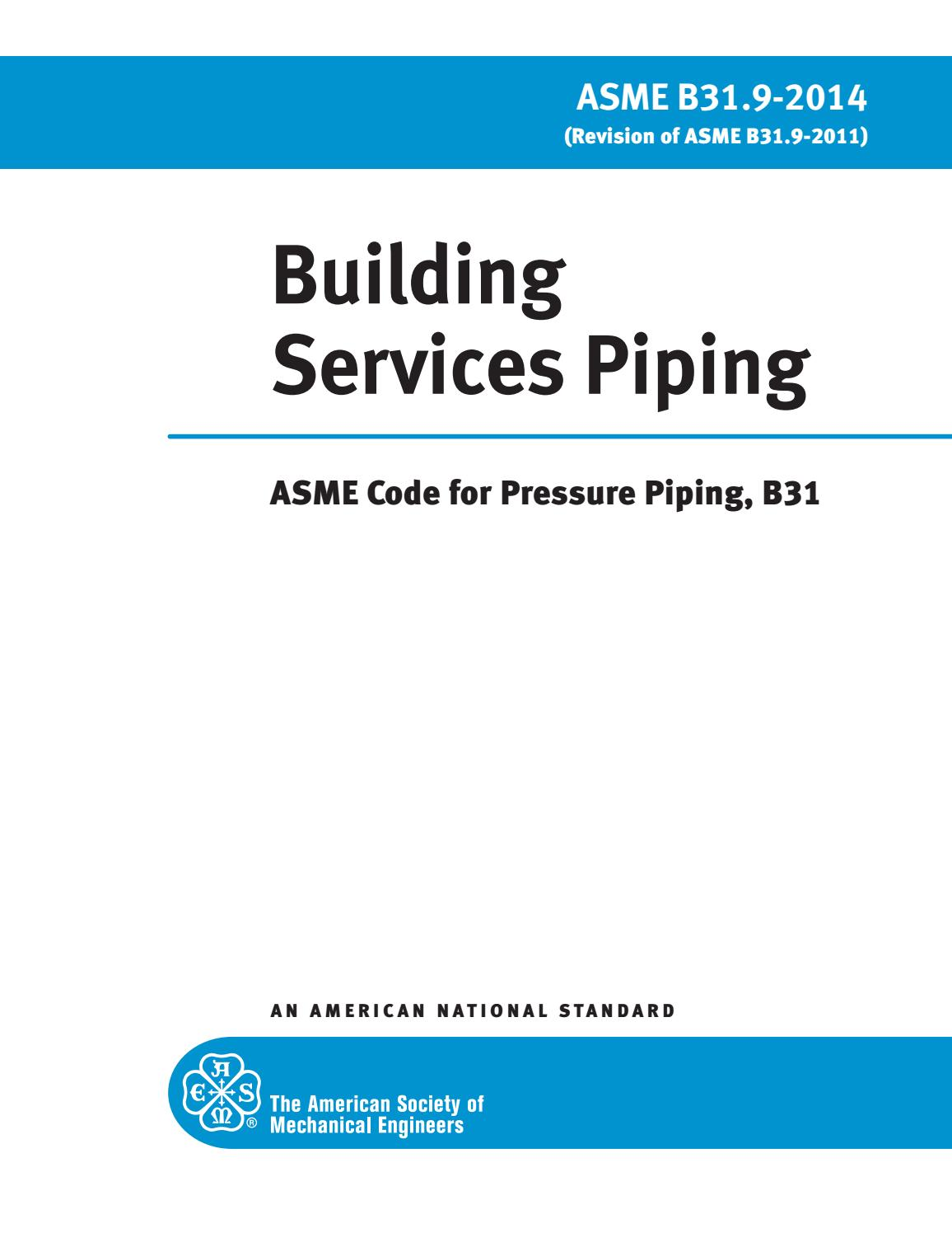 Asme B31 3 Pdf 2014 Free Download