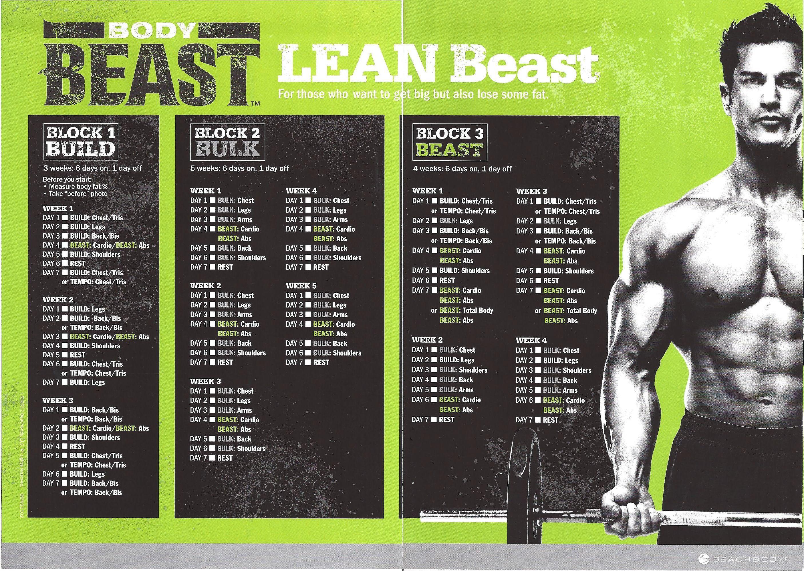 Body Beast Calendar Pdf