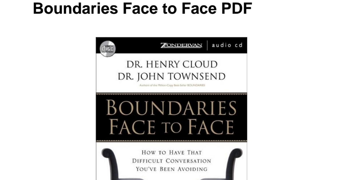 Boundaries Henry Cloud Pdf