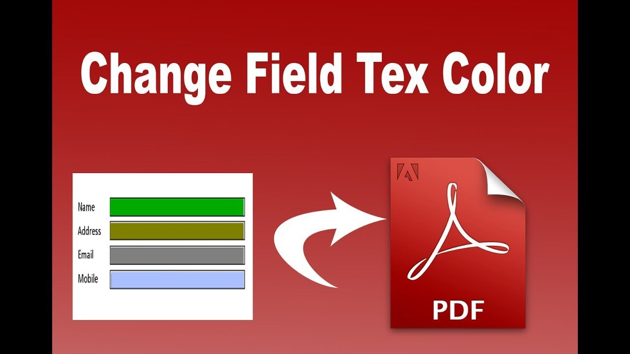 Change Text Color In Pdf Text Box