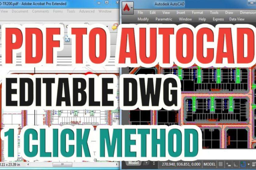 Convert Pdf To Dwg Autocad Free