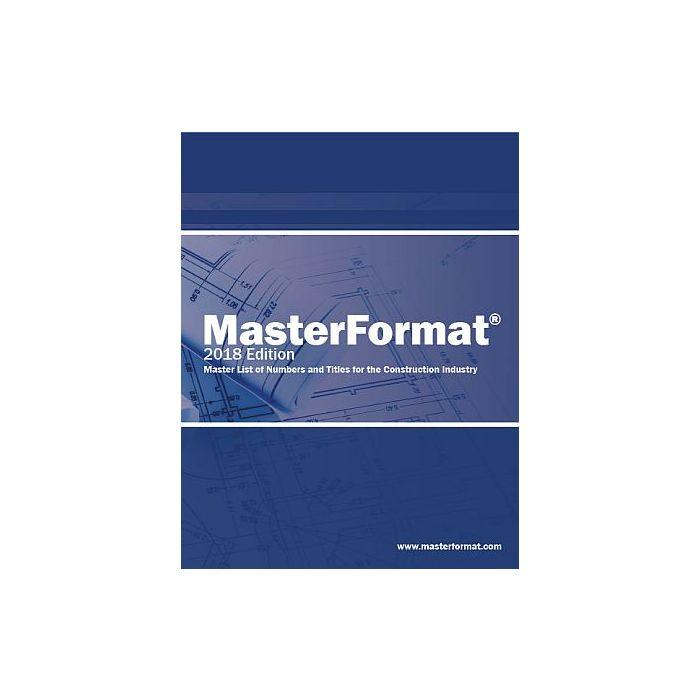 Csi Masterformat 2018 Pdf Download