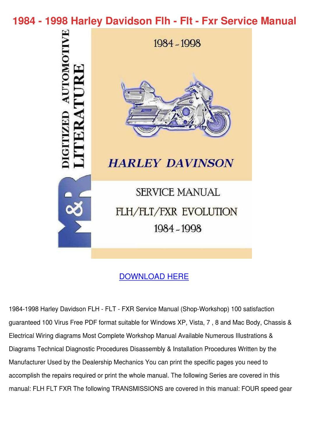 Free Harley Davidson Owners Manual Pdf