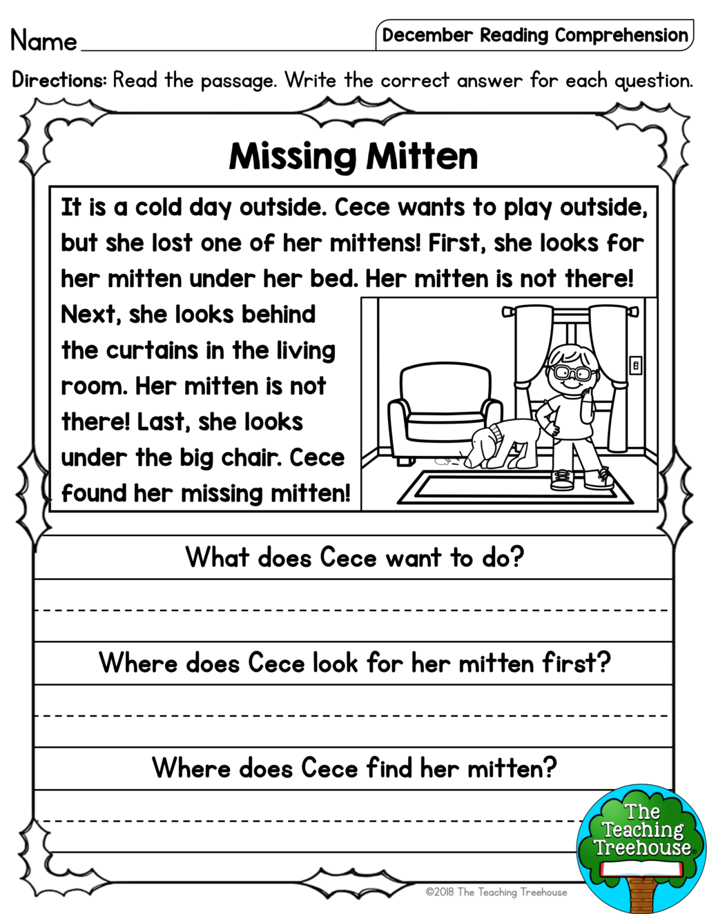 Free Kindergarten Reading Worksheets Pdf