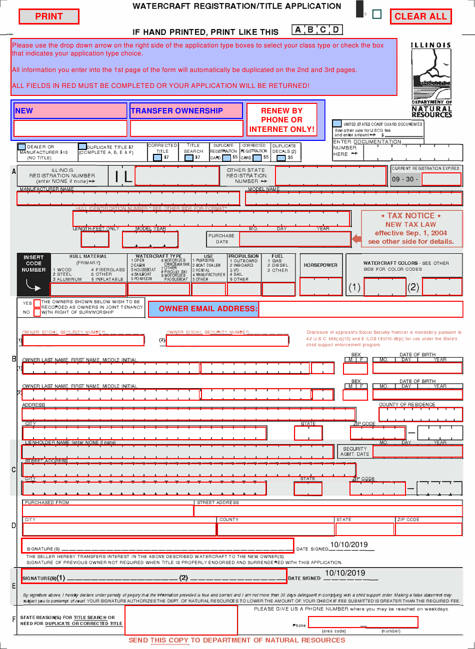 Illinois Title Application Pdf