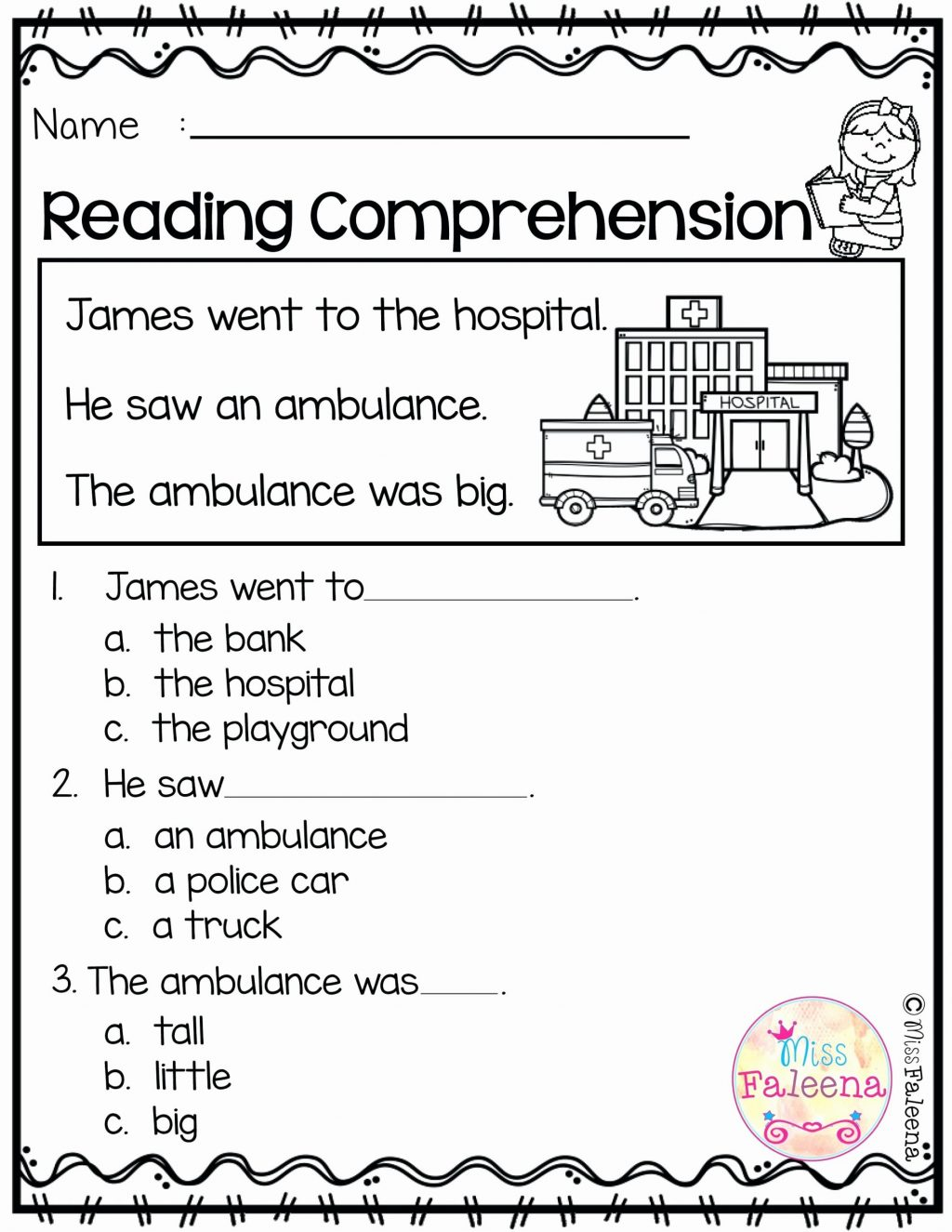 Kindergarten Reading Comprehension Worksheets Pdf Free