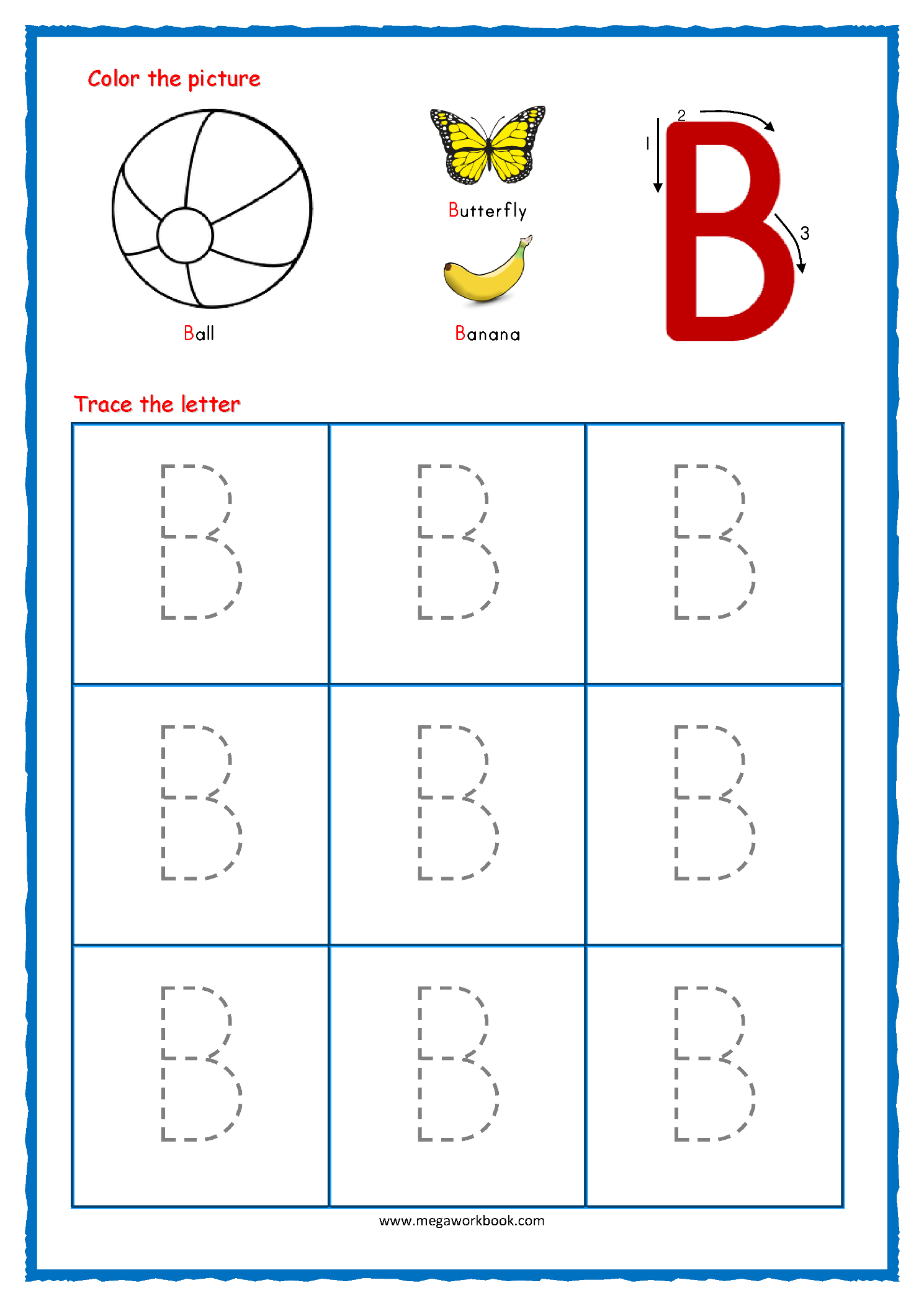 Letter Tracing Alphabet Writing Practice Worksheets Pdf