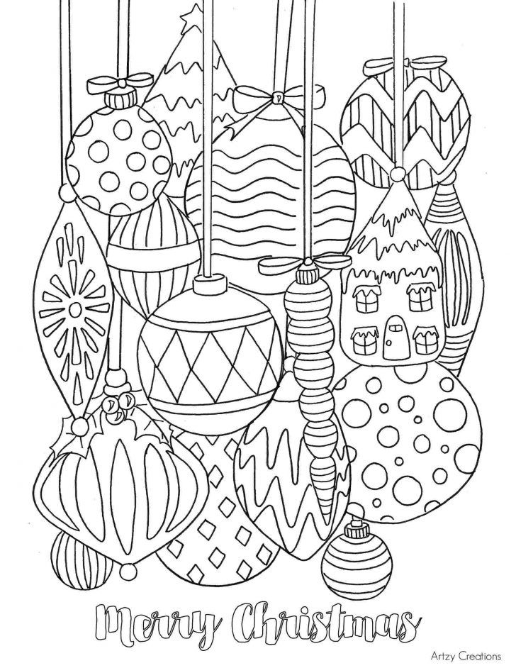 Merry Christmas Christmas Coloring Pages For Adults Pdf