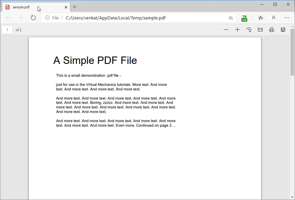 Microsoft Edge Pdf Reader