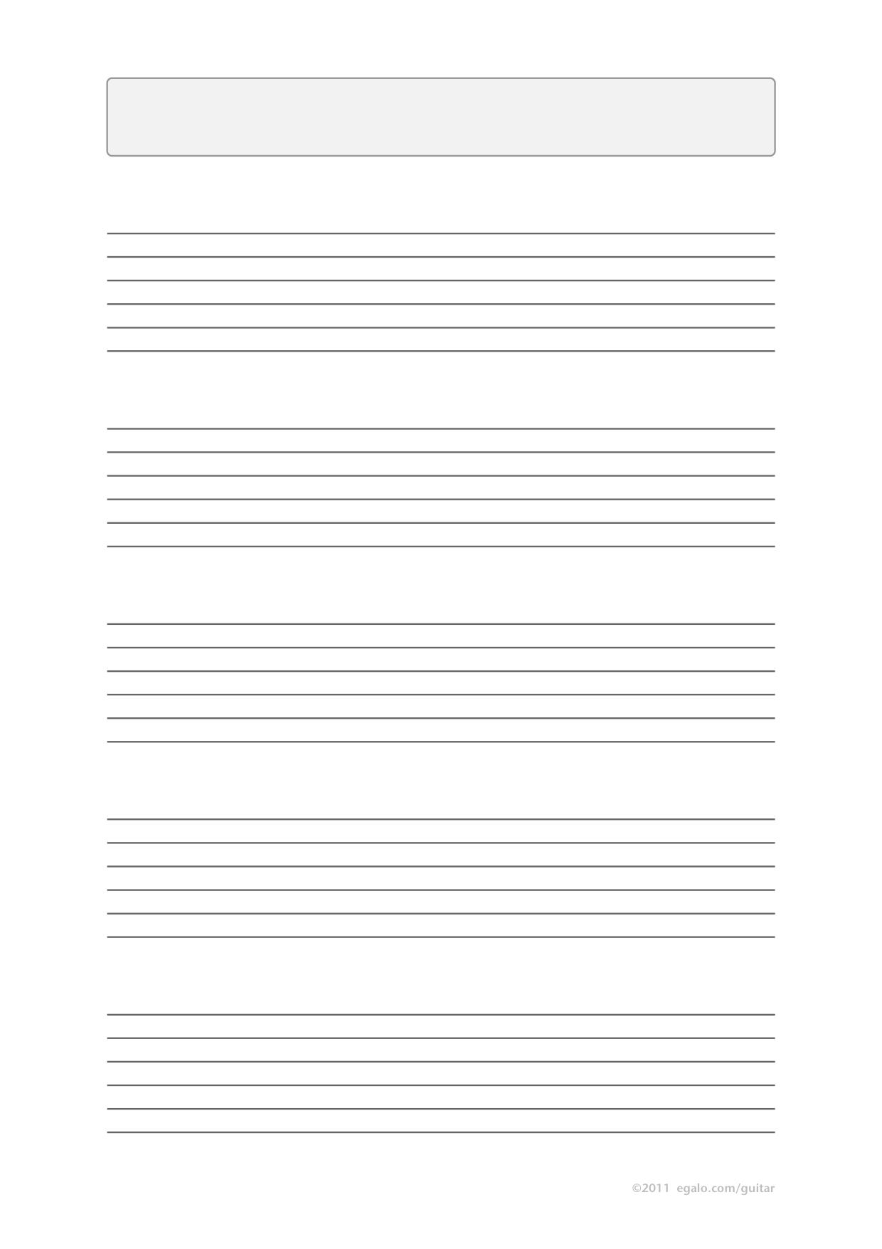 Pdf Blank Guitar Tab Template