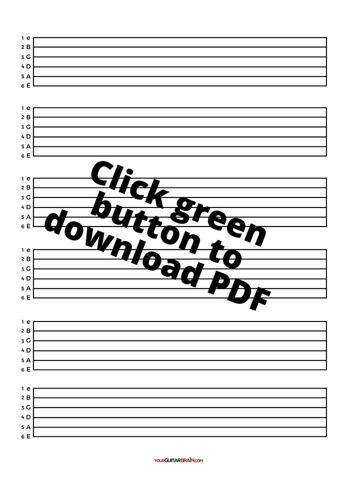 Pdf Free Blank Guitar Tab Sheets