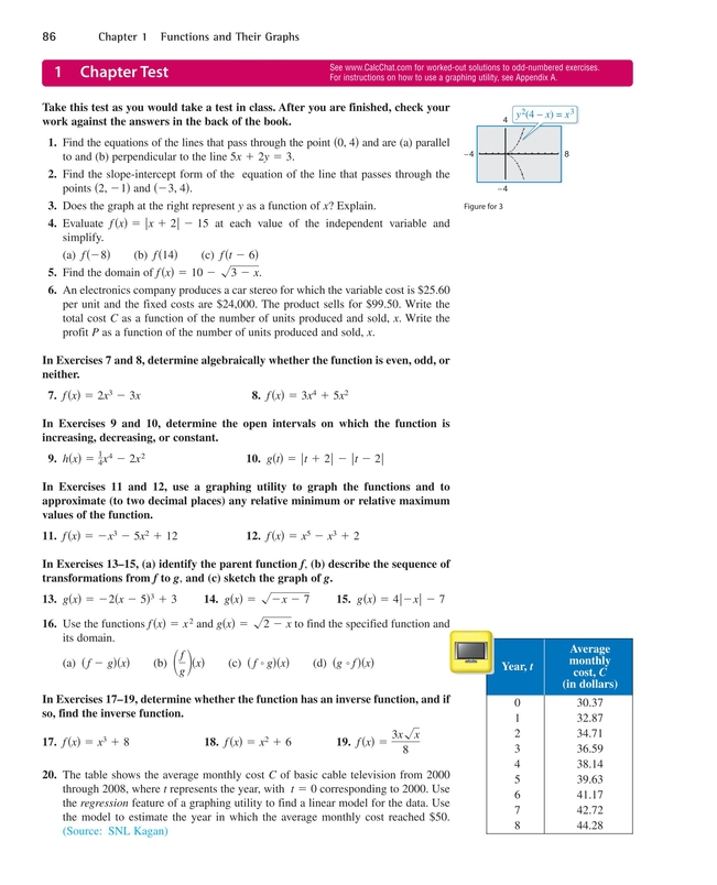 Precalculus With Limits A Graphing Approach Pdf Chapter 3