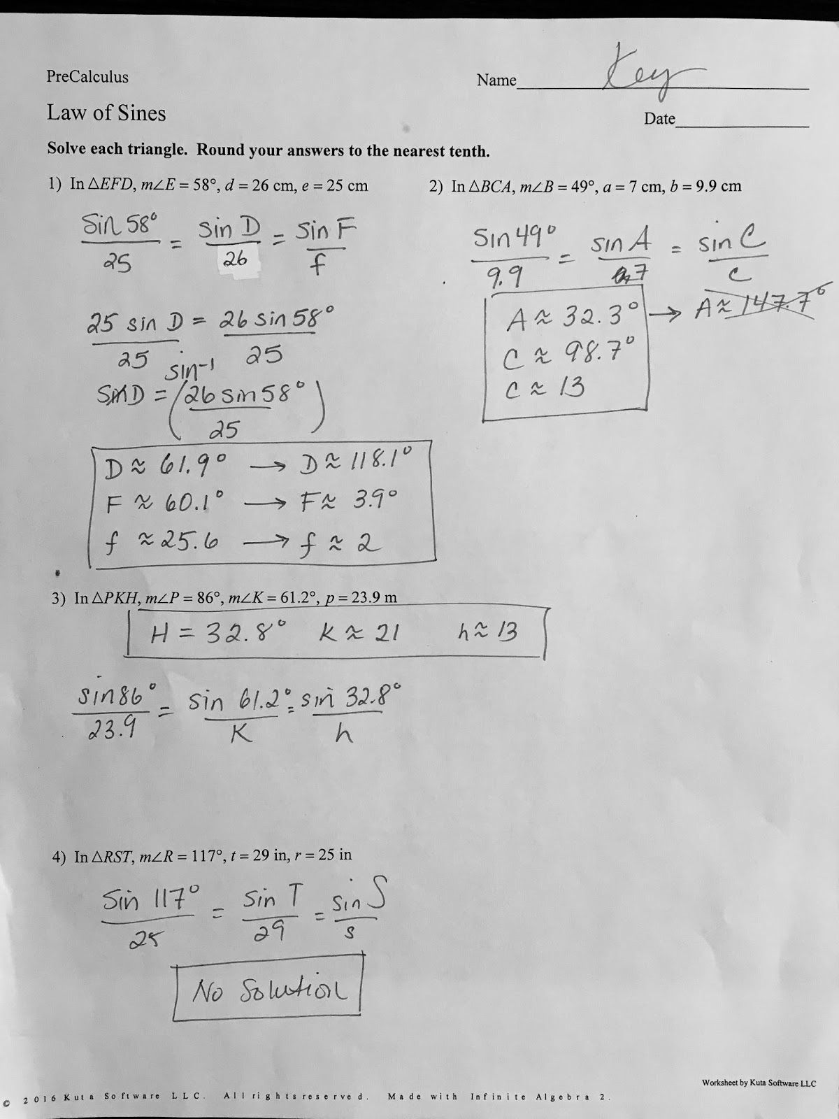 Precalculus Worksheets With Answers Pdf Kuta Software