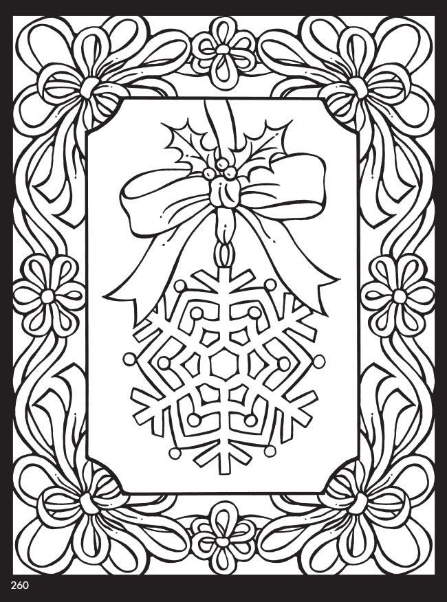 Printable Christmas Coloring Pages For Adults Pdf
