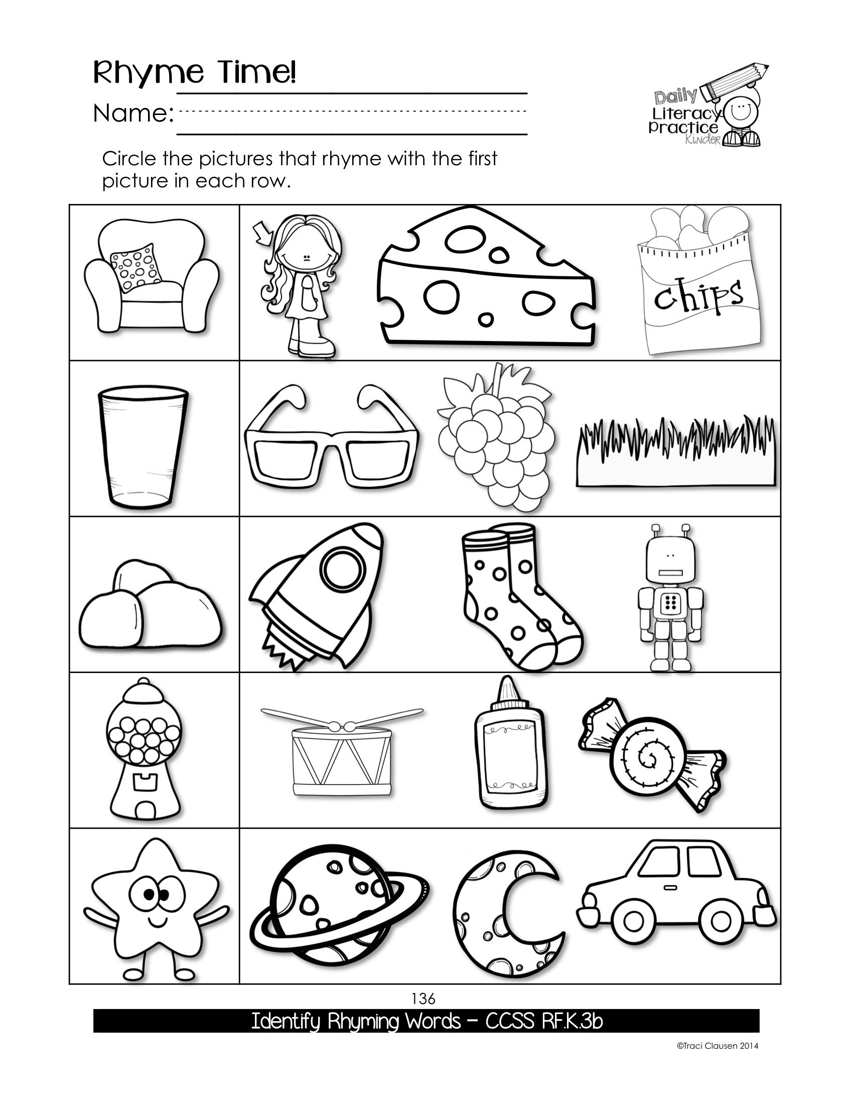 Sight Words Kindergarten Reading Worksheets Pdf