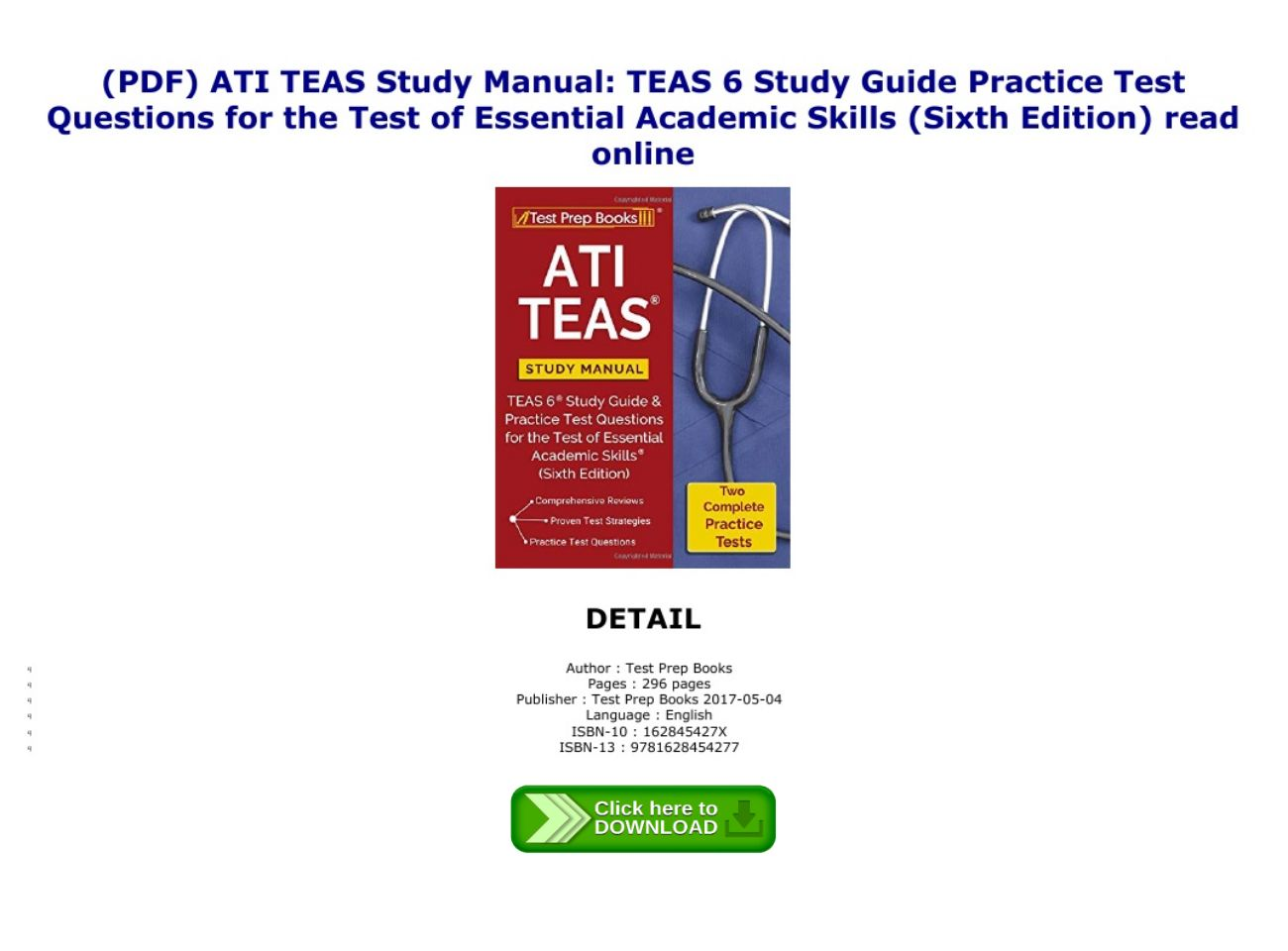 Teas Test Study Guide Pdf
