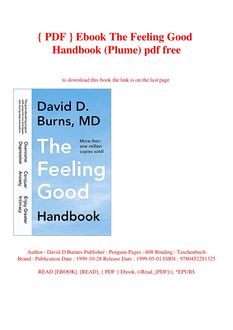 The Feeling Good Handbook Pdf Free