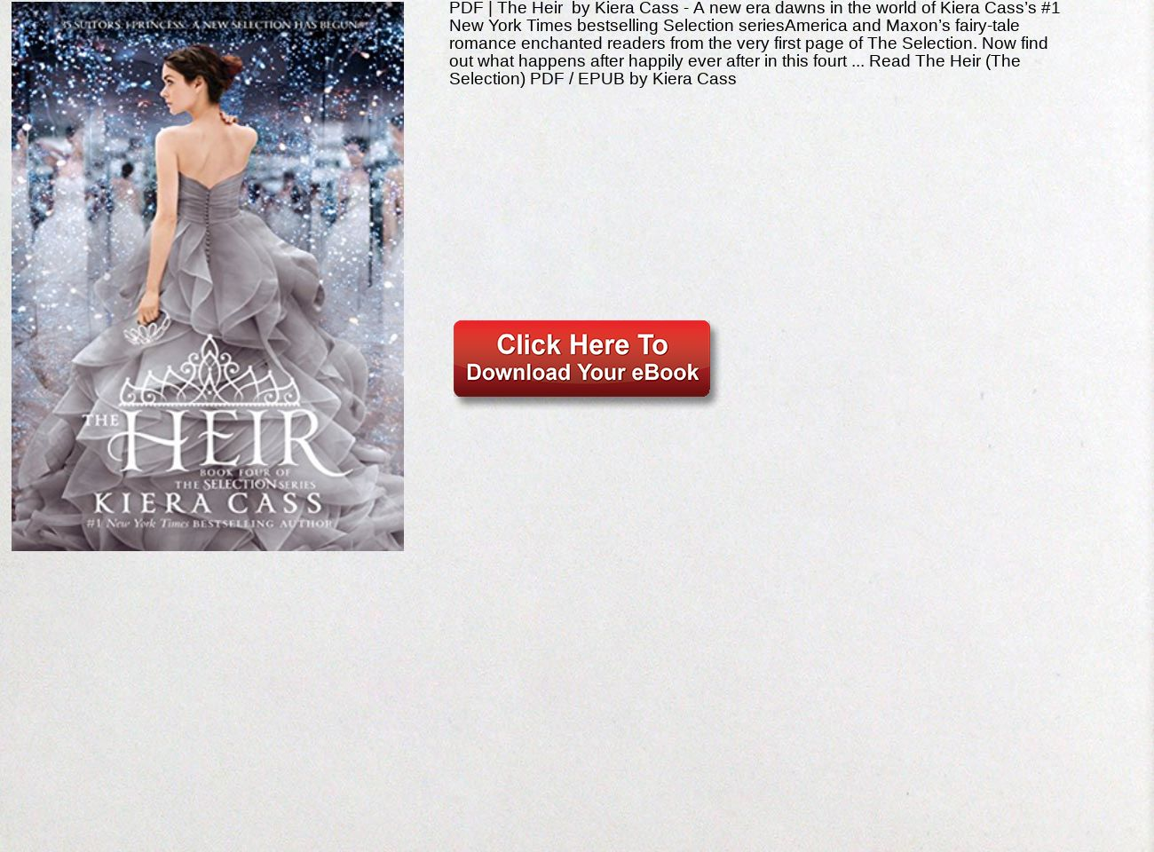 The Heir Pdf Kiera Cass