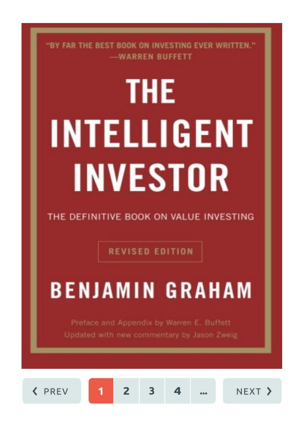 The Intelligent Investor By Benjamin Graham Pdf File Free Download