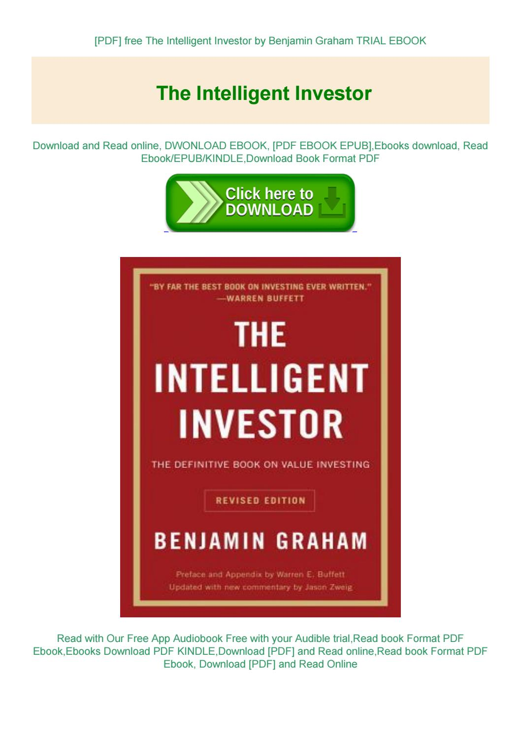 The Intelligent Investor By Benjamin Graham Pdf Free