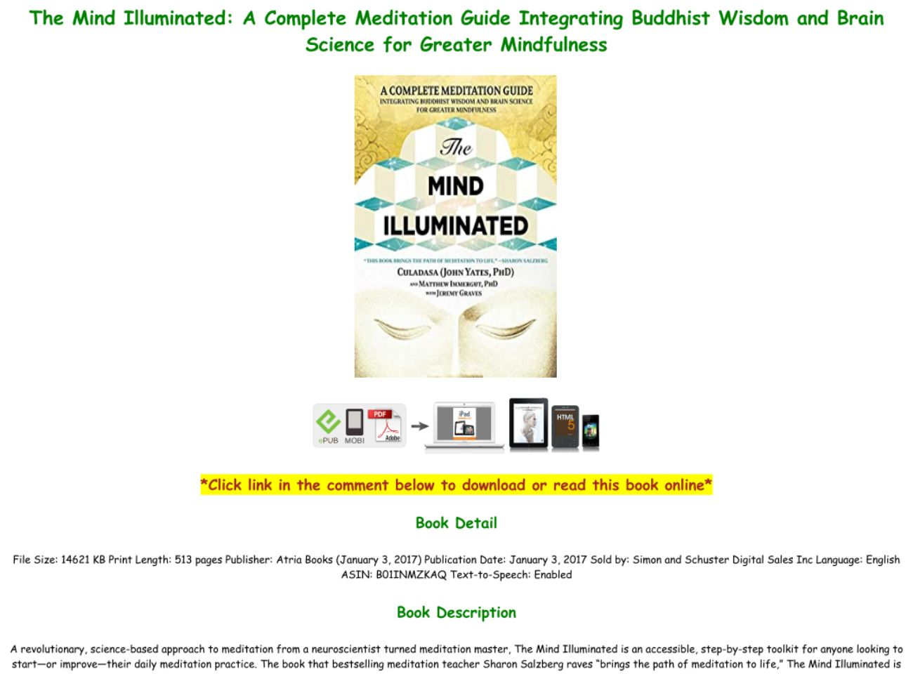 The Mind Illuminated Pdf