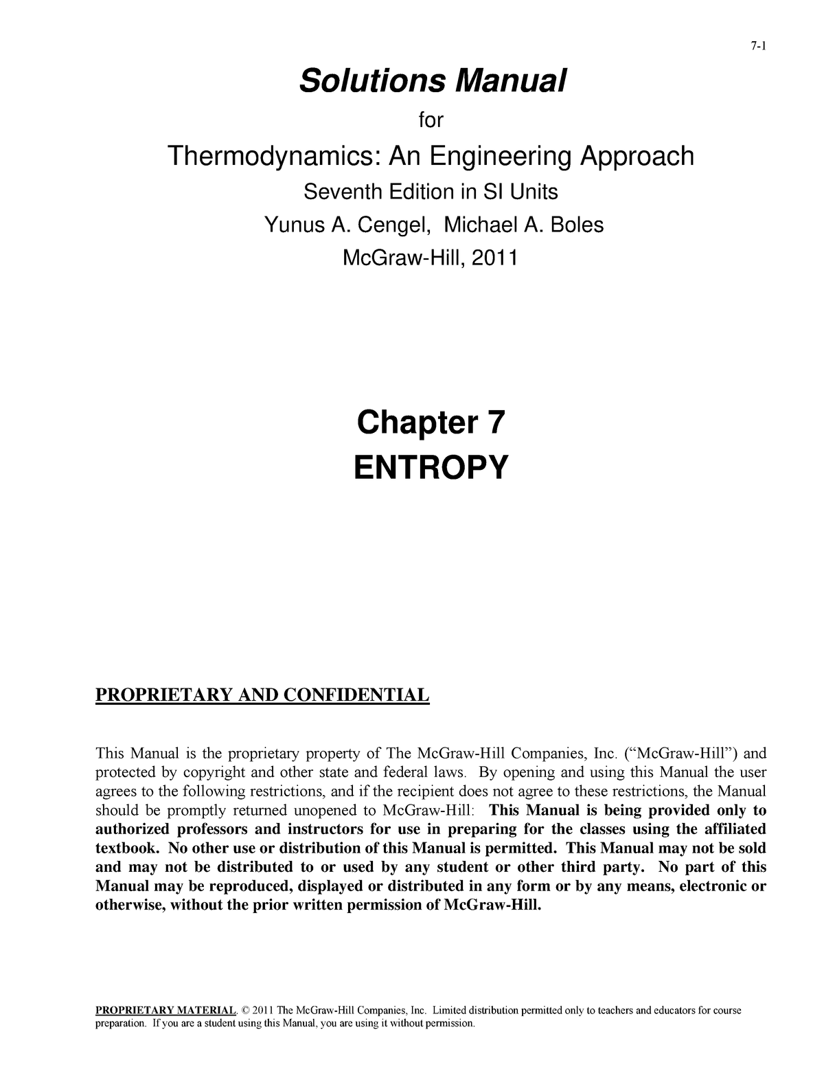 Thermodynamics An Engineering Approach 9th Edition Pdf