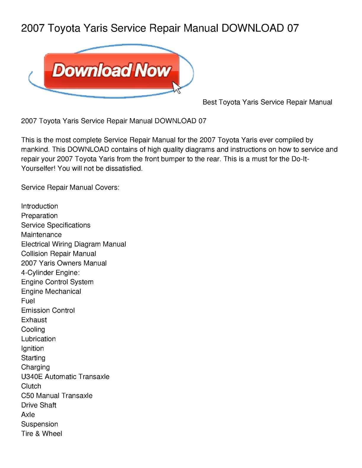 Toyota Yaris Toyota Maintenance Schedule Pdf