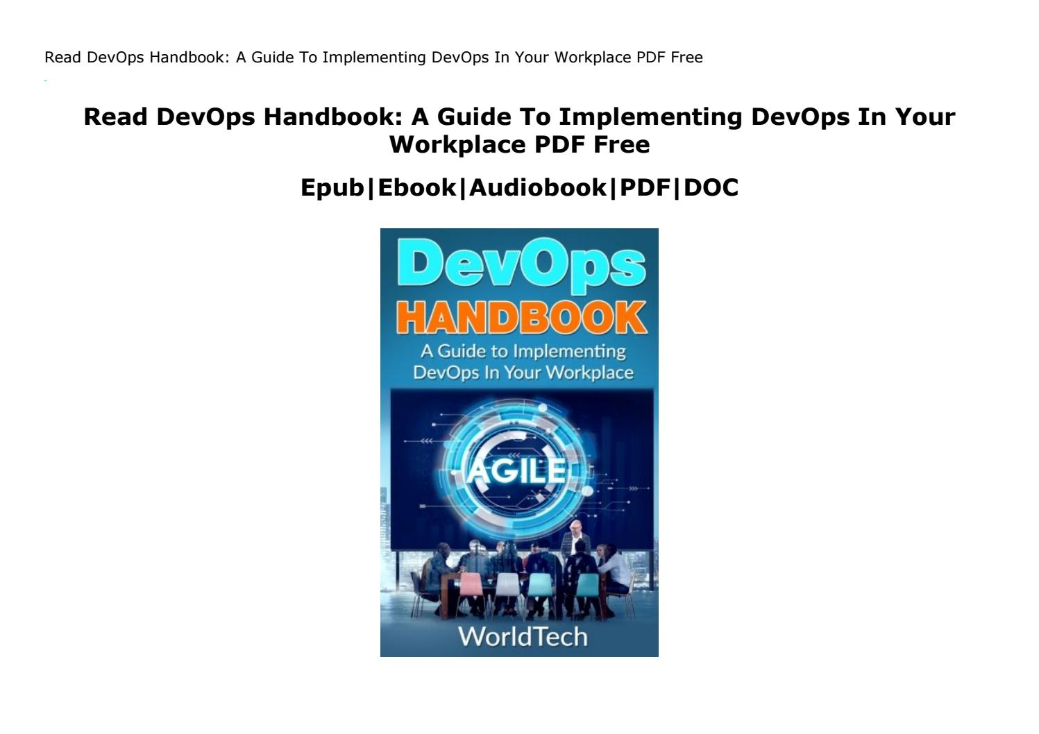 Devops Handbook Pdf Download Free