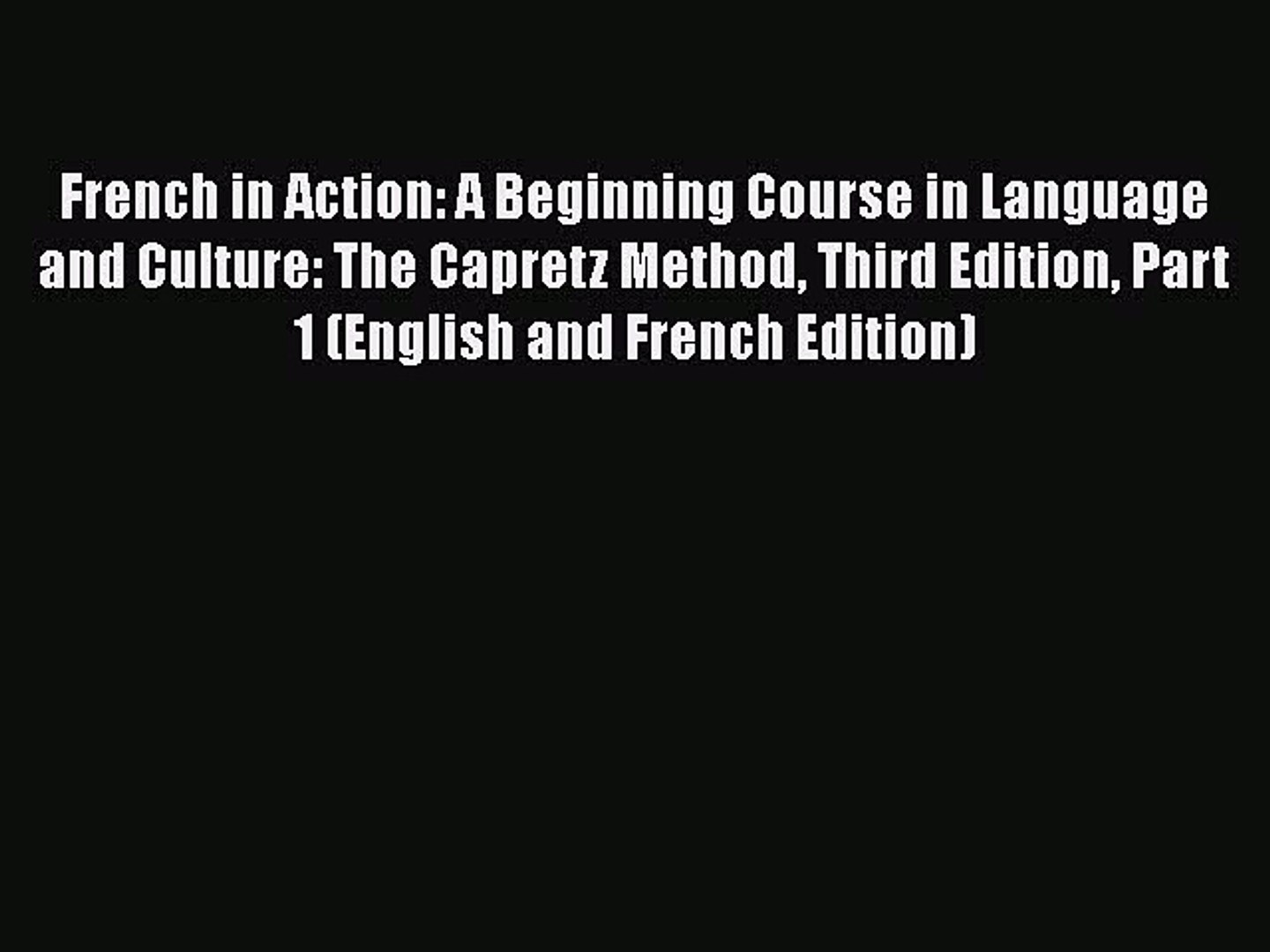 Discovering French Textbook Pdf